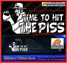 Coight HIT PISS Aussie Straya Australia Beer Bundy Funny 4x4 Ute Sticker 200mm