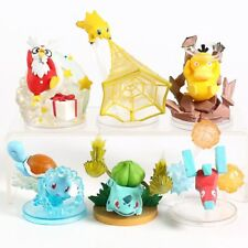 Pokemon Collectible Statue Model Figure Set Bulbasaur Squirtle Psyduck Porygon