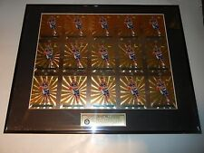 "1995 CLASSIC IMAGES GRANT HILL DUKE LIMITED EDITION UNCUT SHEET 16x20"" FRAMED"