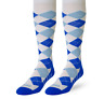 ZENSAH ARGYLE COMPRESSION SOCKS CALF Running Hiking Flying (pair)