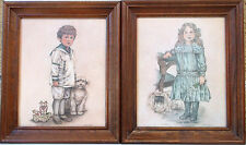 """Robert Gentry Signed Lithograph  8"""" BY 10 """"""""Little Sailor""""&""""Party Dress""""-Framed"""
