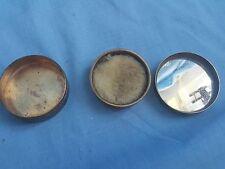 Antique Houbigant Brass Powder Puff Box 1930's