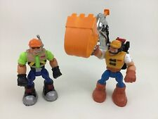"Jack Hammer Construction (2) Fisher Price Rescue Heroes 6"" Action Figure Toy A23"
