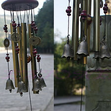 Wind Chimes Home 4 Tubes 5 Bells Copper Yard Garden Decor Outdoor Living Gift