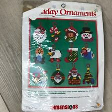 Vintage Dimensions holiday Christmas ornaments 1988 #9060 makes 12 sealed