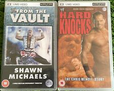 WWE SHAWN MICHAELS & THE CHRIS BENOIT STORY SONY PSP UMD Videos x2 VGC FREE POST