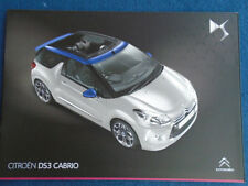 Citroen DS3 Cabrio brochure Nov 2013