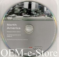 2008 2009 2010 2011 2012 Audi R8 TT A3 RNS-E Navigation DVD Map U.S Canada Map