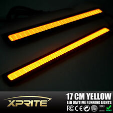 2pcs 6W COB LED DRL Amber/Yellow Dual Color Switchback Parking Turn Signal Light