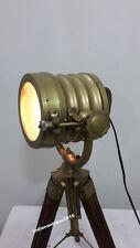 Vintage Antique Finish Desk Table Lamp Searchlight Spot Light Tripod