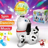 Electronic Dancing Dog Projection Lights Musical Singing Walking Toddler Kid Toy