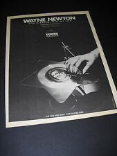 Wayne Newton the one and only star shaped disc 1979 Promo Poster Ad mint cond.