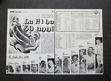 AG34 - Clipping-Ritaglio -1979- LA FORMULA 1 HA 30 ANNI