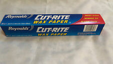 "WAX PAPER REYNOLDS CUT-RITE  60sq. ft. x 11.9"" USE FOR STORAGE,CRAFT, TRACING"