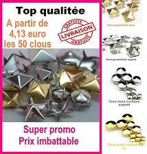 Lot de 50/100/200 Clous customisation différent modèle vêtement  studs spikes
