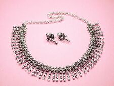 BALLERINA'S Antique Oxidized Silver Plated Jewelry Necklace Earing Set (011)