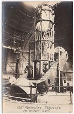 "Real Photo Postcard 100"" Reflecting Telescope in Mt. Wilson, California~107439"