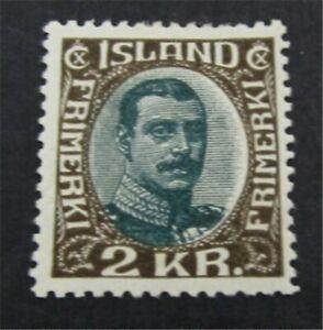 nystamps Iceland Stamp # 127 Mint OG H $300   L23y410