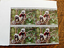 Madagascar Stamps, 2 x 10,000 Ariary, Lemur Motif, current issue, perfect