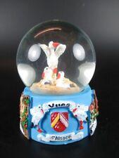 Alsace Snow Ball Snowglobe 9 cm, Souvenir, with Storchs Nest, Alsace