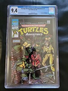 Teenage mutant ninja turtles adventures 1 CGC 9.4