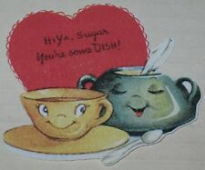 "Valentine Gift Tag ""Hiya Sugar You're Some Dish!"" 2.5"" x 2.75"" Cup & Saucer"