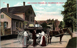 Vtg 1910s The Yankee Peddler South Framingham Massachusetts MA Postcard