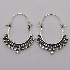 45f1151a4 Creoles hoop earring 925 silver bead hook boho Ladies feeanddave