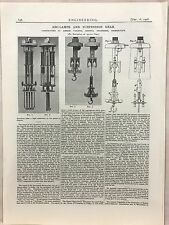 Arc Lamps Over Suspension Gear From Birmingham: 1908 Engineering Magazine Print