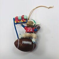Christmas Ornament All Star Santa Football w Bird Cheerleaders