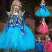Flower Girl Princess Dress Kids Birthday Wedding Bridesmaid Gown Formal Dresses