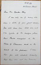 ALFRED DUFF COOPER 1937 Autograph Letter Signed ALS - Ambassador/Minister