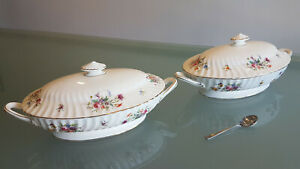 """2 VINTAGE MINTON TUREENS IN THE """"MARLOW"""" PATTERN. LOOK UNUSED. PERFECT CONDITION"""