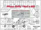 """Model Airplane Plans (FF): 1912 Curtiss 'A' Pusher 26"""" 1/16 Scale  (R/N Models)"""