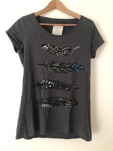 Armedangels T-Shirt XL NEU 4 Federn Acid Black dunkelgrau