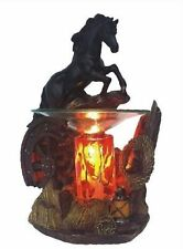 Black Horse Burner Wax Tart Scented Oil Candle Warmer Electric Polyresin