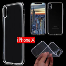 For Apple iPhone X Slim Clear Soft TPU Protective Back Skin Case Cover Bumper