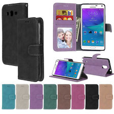 Retro Frosted Wallet Leather Flip Case Cover For Samsung A3 A5 G530 G360 J1 J2