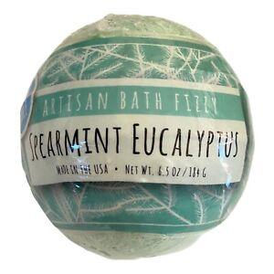 NEW LOT OF 2 Fizz & Bubble Artisan Bath Fizzy SEALED 6.5 oz SPEARMINT EUCALYPTUS