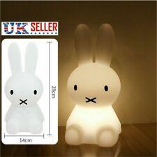 Bunny Rabbit LED Baby Kids Night Light Lamp Girls Children Room White Miffy 28cm