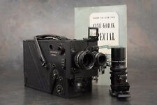 :RARE Military Kodak Cine Special Matte Black 16mm Movie Camera w 3 Lenses