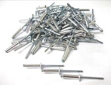 Aluminium rivets. 4.0mm x 14mm. Blind. Open. Dome. Pack of 100. Top Quality