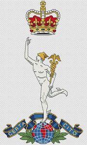 "Royal Signals Army Cross Stitch Design (6x10"", 15x25cm,kit or chart)"
