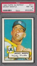 1983 Topps 1952 Reprint Set #311 MICKEY MANTLE PSA 8 NM-MT Yankees