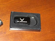 U.S. Air Force Wings Chrome Key Ring New In Box