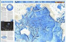 NATIONAL GEOGRAPHIC ~ WORLD OCEAN FLOORS ~ DEEP SEA VENTS ~ MAP