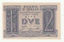 Italia 2 lire 1939  impero FDS  416  570139 tagliata irregolarmente rif 2798