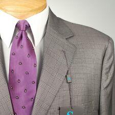 42R STEVE HARVEY Grey Plaid Suit - 42 Regular Mens Suits - SH05