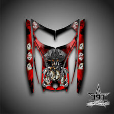 SKI-DOO REV MXZ SNOWMOBILE WRAP GRAPHICS HOOD DECAL 03-07 COWBOY OUTLAW RED