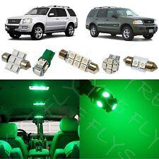 8x Green LED lights interior package kit for 2002-2010 Ford Explorer FX1G